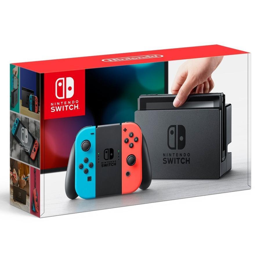 【未使用】Nintendo(任天堂) Nintendo Switch ニンテンドースイッチ Joy-Con(L)ネオンブルー/(R)ネオンレッド 本体