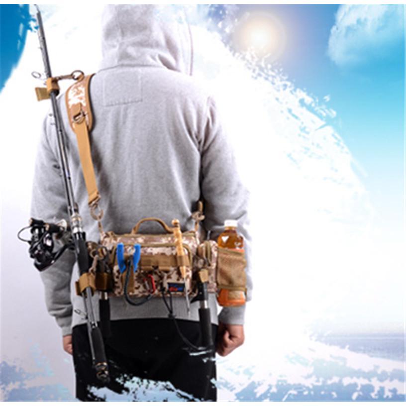 マルチフィッシングバック フィッシングバッグ タックルバッグ ヒップバッグ ショルダーバッグ ルアーケース 釣りバック 大容量 多機能 防水 アウトドア|sellmax1