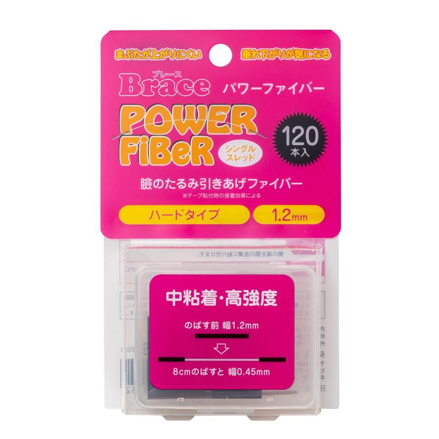 二重テープ アイテープ クセ付け ブレース パワーファイバー 好評 シングル お買得 ハード 120本入り クリアー ウォータープルーフ 二重ファイバー 1.2mm y2