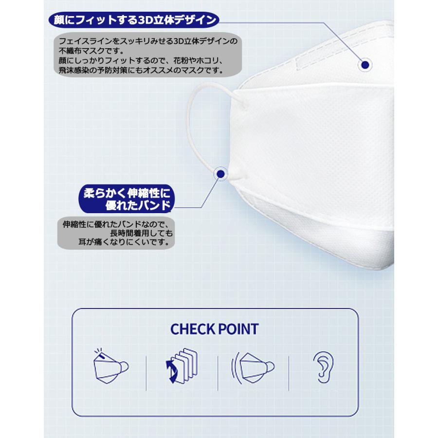 KF94 マスク ダイヤモンド形状 5枚入り 使い捨てマスク 4層構造 プレミアムマスク 不織布マスク 防塵マスク ウイルス 飛沫対策 PM2.5 花粉 y1 senastyle 04