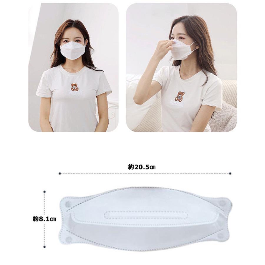 KF94 マスク ダイヤモンド形状 5枚入り 使い捨てマスク 4層構造 プレミアムマスク 不織布マスク 防塵マスク ウイルス 飛沫対策 PM2.5 花粉 y1 senastyle 06