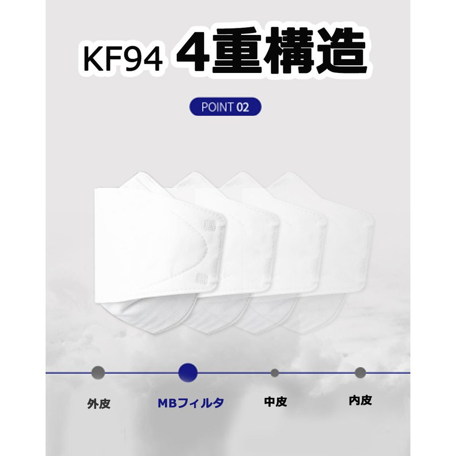 KF94 マスク ダイヤモンド形状 10枚入り 使い捨てマスク 4層構造 プレミアムマスク 不織布マスク 防塵マスク ウイルス 飛沫対策 PM2.5 花粉 y1|senastyle|05