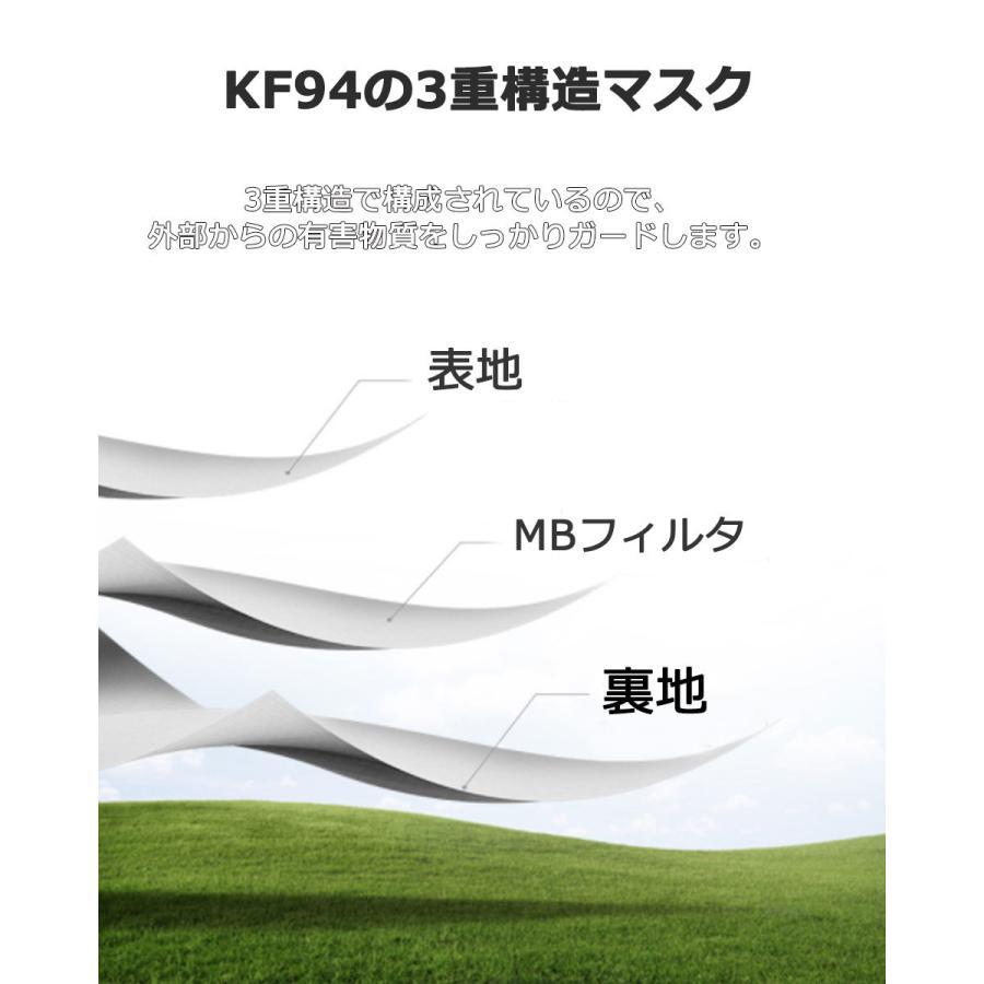 KF94 マスク ダイヤモンド形状 50枚入り 使い捨てマスク 3層構造 プレミアムマスク 不織布マスク 防塵マスク ウイルス 飛沫対策 PM2.5 花粉|senastyle|03