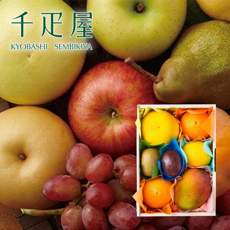 千疋屋 ギフト 果物詰合せ(季節の果物、4〜5種類程) 京橋千疋屋 senbikiya
