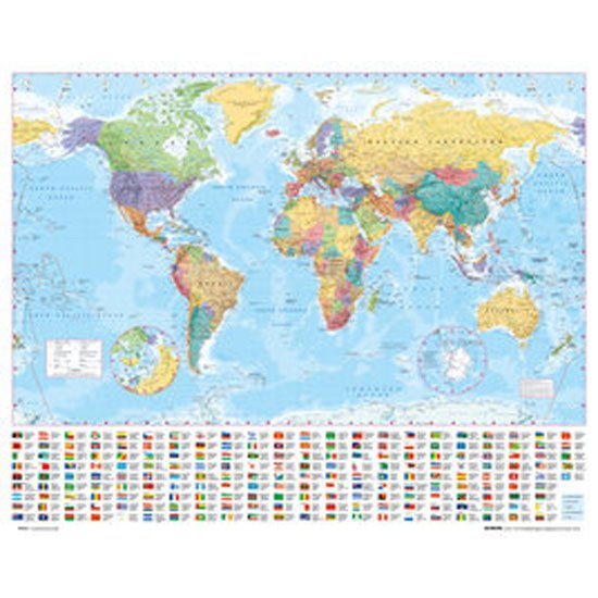 ■ 永遠の定番モデル 世界地図 のポスター■ オンラインショッピング ポスター