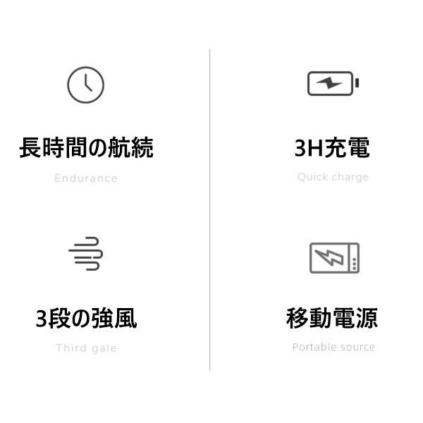 小型扇風機 ハンディファン ポータブル USB 静音 折り畳み扇風機 モバイルバッテリー機能搭載 軽量 携帯 熱中症対策 可愛い USB充電式 携帯 熱中症対策|sendworld|10