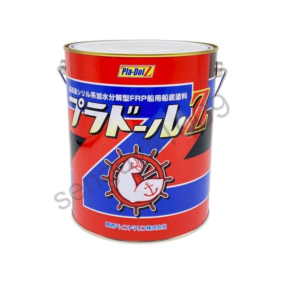 プラドールZ 4kg 3缶 赤 NKM コーティングス 『送料無料』 船底塗料 レッド