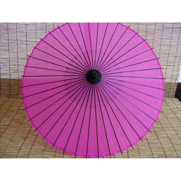 絹傘・日本舞踊傘・踊り傘 継柄 ピンク A