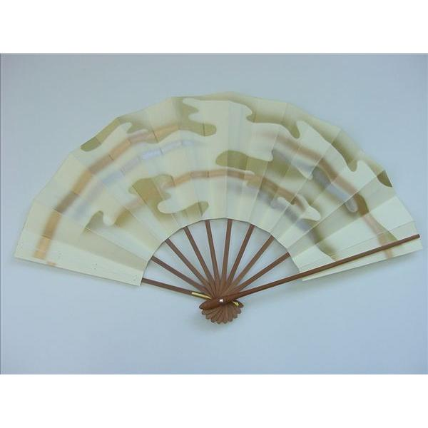 尺舞扇子 日本舞踊 踊り用 オンラインショッピング 奉呈 30cm 鳥の子地 雲かすみ スス竹骨 箱付き
