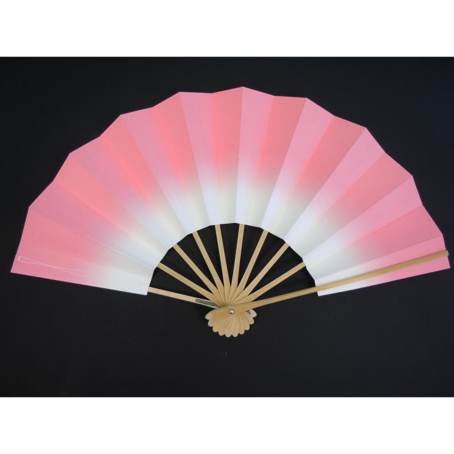 舞扇子 子供用 9寸 メーカー直送 あけぼの ぼかし 日本製 白竹 箱なし 京扇子 ピンク 期間限定特別価格