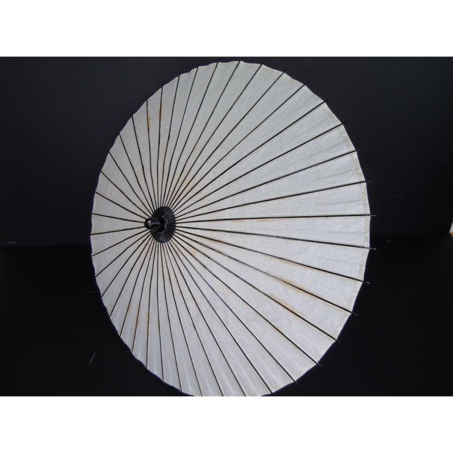 処分品 舞踊傘 1尺7寸 無地 白 直径約90cm