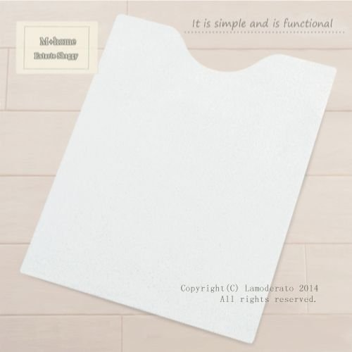 希少 トイレマット 大幅値下げランキング ロング M+home エスタルトシャギー ホワイト 約85×65cm