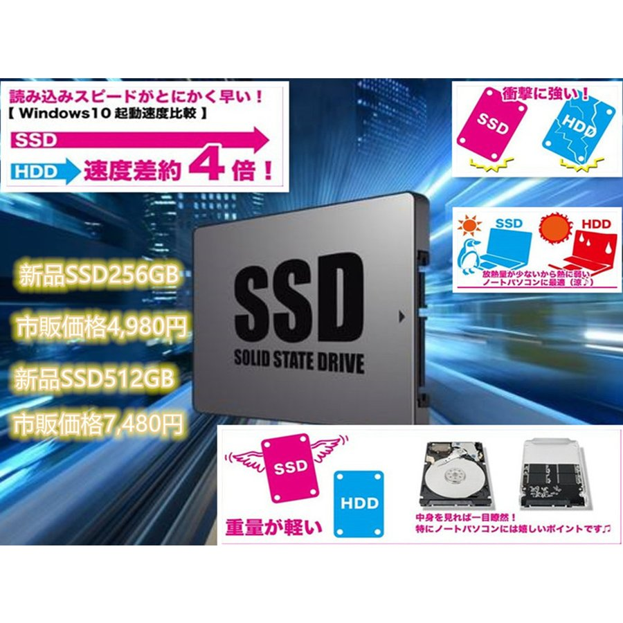 中古/自作/ゲーミングデスクトップPC/Win10/爆速新品SSD128GB+500GB/8GB/GT430/2世代i7/新品無線KB&マウス  Microsoft Office2019|senrakuen|07