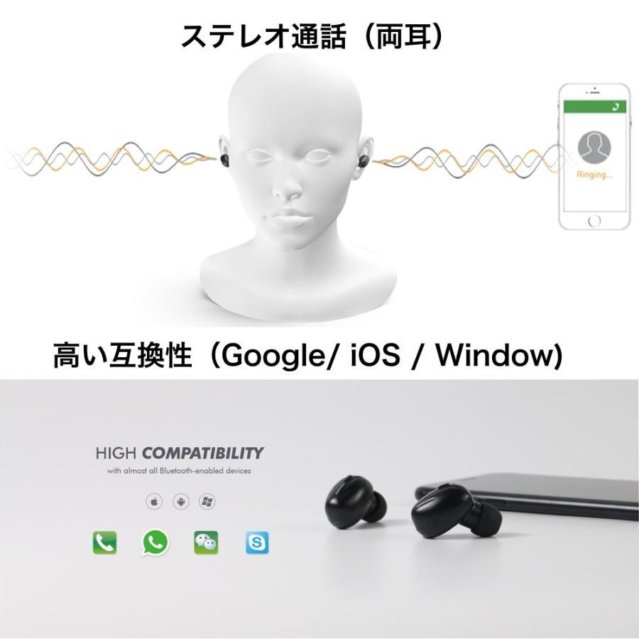 完全ワイヤレスイヤホン 驚異の充電スピード Bluetooth 5 自動ペアリング 自動電源 音量調整 Jabees Beez イヤホン senseability 12
