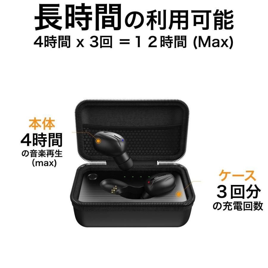 完全ワイヤレスイヤホン 驚異の充電スピード Bluetooth 5 自動ペアリング 自動電源 音量調整 Jabees Beez イヤホン senseability 03