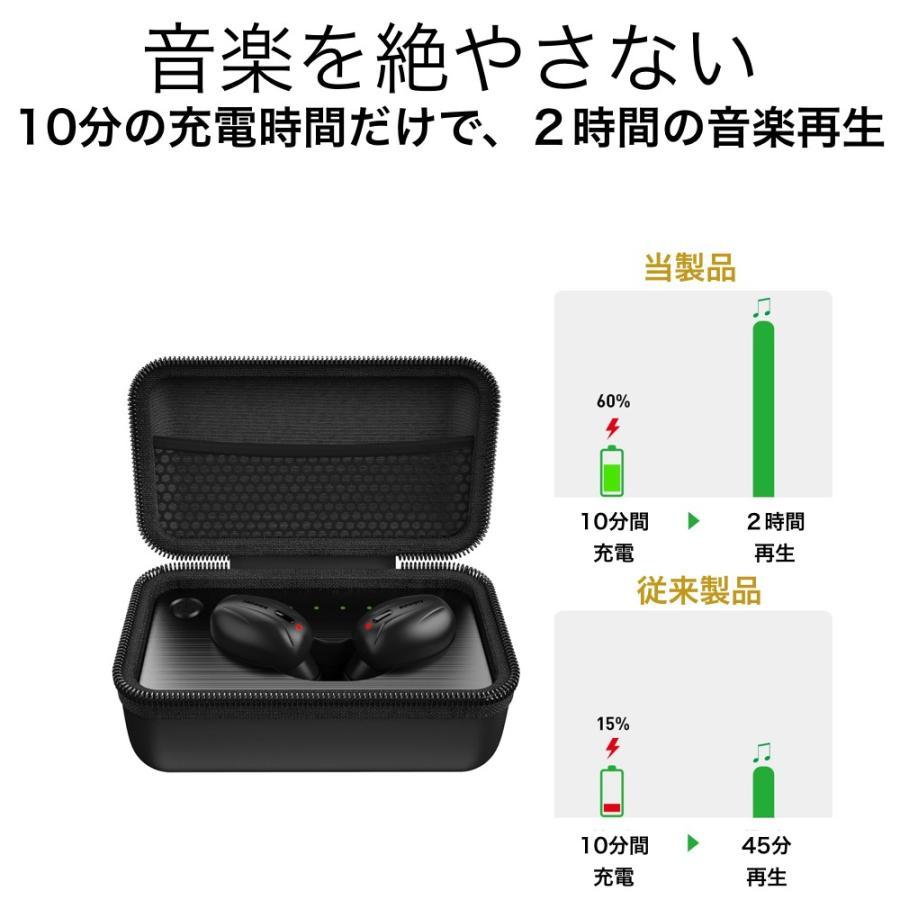 完全ワイヤレスイヤホン 驚異の充電スピード Bluetooth 5 自動ペアリング 自動電源 音量調整 Jabees Beez イヤホン senseability 05