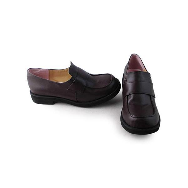 ダークチョコレートカラー ロリィタ靴 チャンキーヒール パーティー ロートップシューズ 可愛い 丸いつま先 sentyuria 02