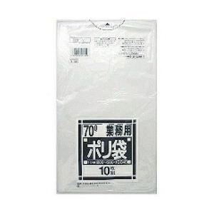 [業務用厚口ポリ袋0.04mm]N-73[70L]透明[0.04×ヨコ800×タテ900mm][10枚入×40冊]