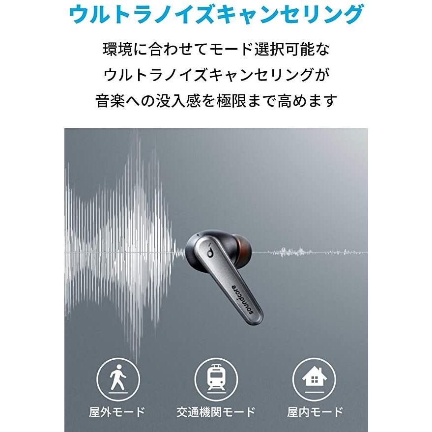Anker Soundcore Liberty Air 2 Pro【完全ワイヤレスイヤホン / ウルトラノイズキャンセリング / ワイヤレス充電対応 / IPX4防水規格 / 最大26時間音楽再生 serekuto-takagise 02