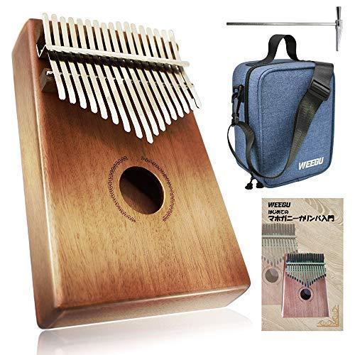 WEEGU カリンバ 楽器 一部予約 kalimba 日本語説明書 専用ショルダーバッグ付属 購買