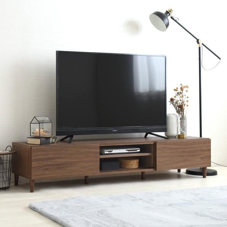 テレビ台 ローボード 北欧 収納 白 ブラウン 木目 幅180cm 幅180 TV台 テレビボード 引き出し 大型TV対応 シンプル かわいい おしゃれ alla/AL35-180L|sesame-kagu|02
