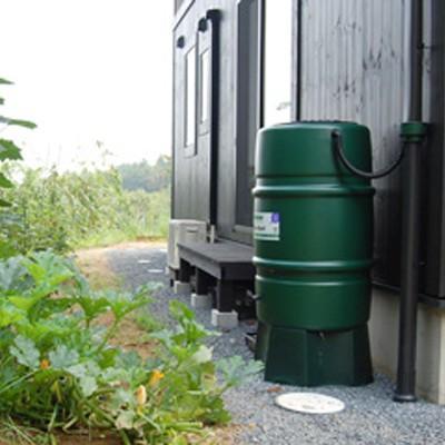 ハーコスター 雨水タンク 227リットル 「レイントラップ(雨どい集水器)」「 専用スタンド」セット|sessuimura|09
