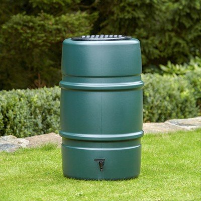 ハーコスター 雨水タンク 227リットル「レイントラップ(雨どい集水器)」「 専用スタンド」「オーバーフローキット」セット|sessuimura|02