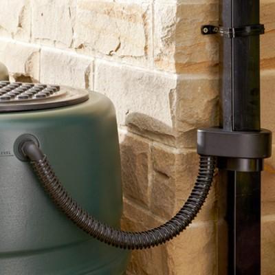 ハーコスター 雨水タンク 227リットル「レイントラップ(雨どい集水器)」「 専用スタンド」「オーバーフローキット」セット|sessuimura|03