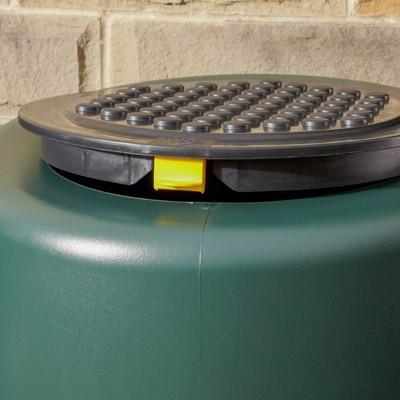 ハーコスター 雨水タンク 227リットル「レイントラップ(雨どい集水器)」「 専用スタンド」「オーバーフローキット」セット|sessuimura|05