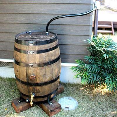 雨水タンク(雨水貯留槽) ウイスキー樽 「アーサー180L」 雨水貯留タンク おしゃれ|sessuimura|03