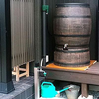 雨水タンク ウイスキー樽風 ウィリアム 240L プラスチック製  おしゃれな 雨水貯留タンク|sessuimura|05