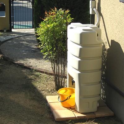 雨水タンク まる140L 雨水貯留タンク 雨水タンク 補助金 スリム おしゃれ 高品質 コンパクト 薄型 丸一|sessuimura|03