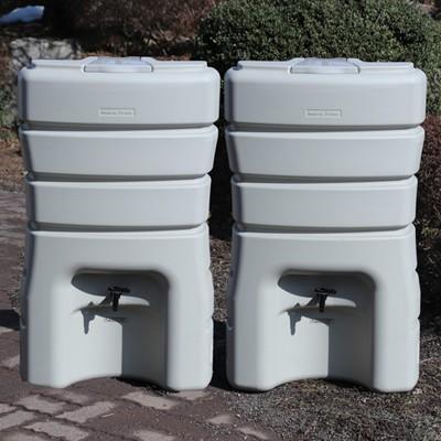 雨水タンク 雨水貯留タンク  まるダブル280L 高品質 コンパクト|sessuimura|08