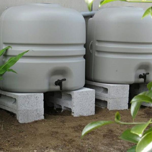 雨水タンク コダマ樹脂 ホームダム ミニダブル(110L × 2台セット)おしゃれ 家庭用 連結 雨水貯留タンク sessuimura 02