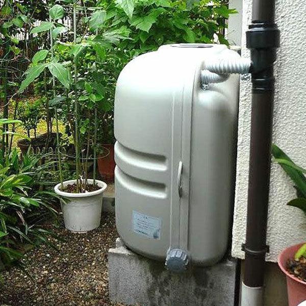雨水タンク コダマ樹脂 ホームダム ミニダブル(110L × 2台セット)おしゃれ 家庭用 連結 雨水貯留タンク sessuimura 03