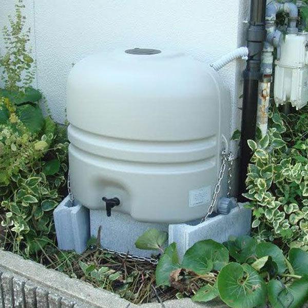 雨水タンク コダマ樹脂 ホームダム ミニダブル(110L × 2台セット)おしゃれ 家庭用 連結 雨水貯留タンク sessuimura 05