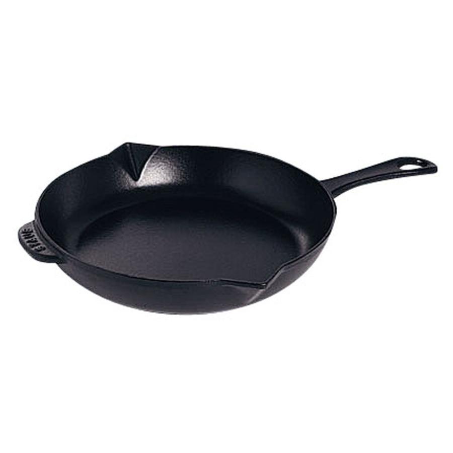 IH対応鍋 料理道具 / ストウブ ビュッフェスキレット 26cm 黒 寸法