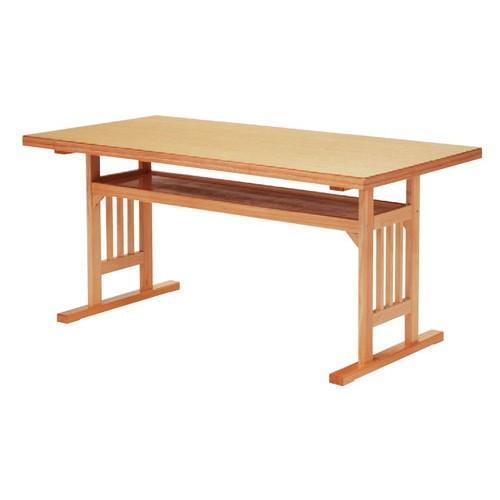 テーブル 格子脚型テーブル メラミン白木 [180 x 75 x H70cm] 木製品 (7-763-3) 料亭 旅館 和食器 飲食店 業務用