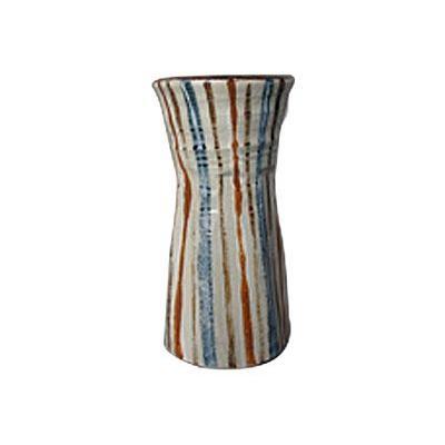 赤楽 十草筒 花瓶