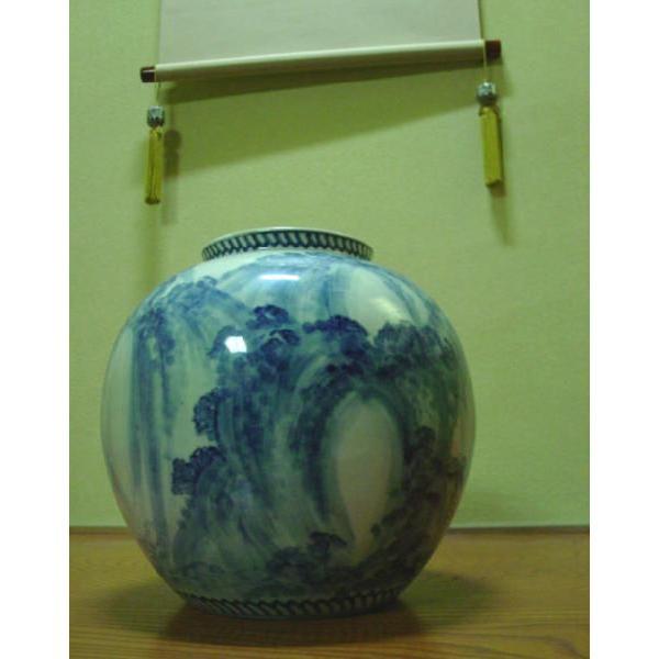【ファイルNO.3】 染付 尺玉 花瓶