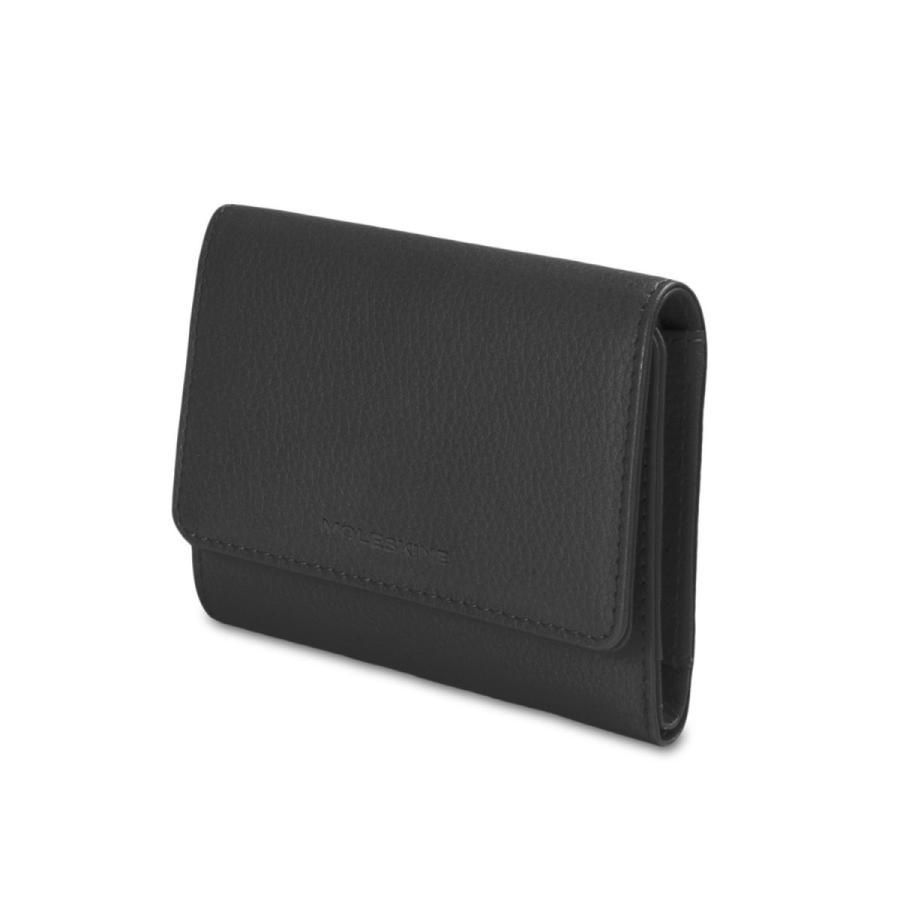 モレスキン 財布 リネージ レザー レザー トリフォールド ウォレット ブラック ET84LNWTFBK