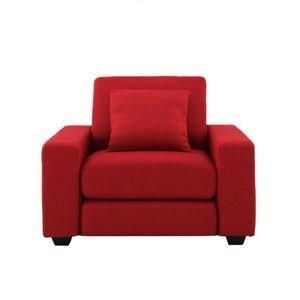 ソファー 1人掛けLeJOYワイドタイプ サンレッド サンレッド 脚:ナチュラル リジョイ:20色から選べるカバーリングソファ