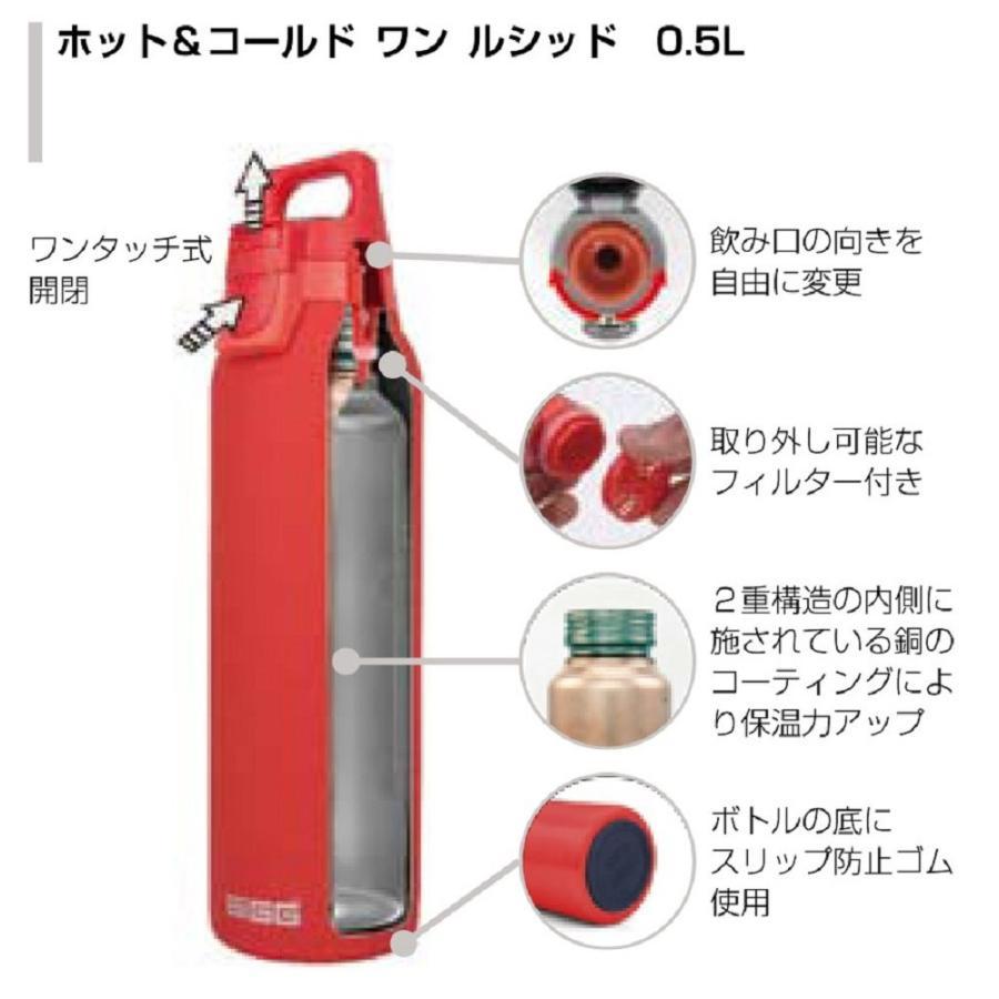 SIGG(シグ) アウトドア 保温保冷 ステンレス製ボトル ホット&コールド ワン ルシッド スカーレット 0.5L 13032