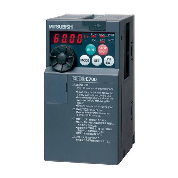 (在庫あり) 三菱電機 インバータ FR-E720S-0.2K E700シリーズ 単相200V 0.2kW (三相モーター制御用) インバーター