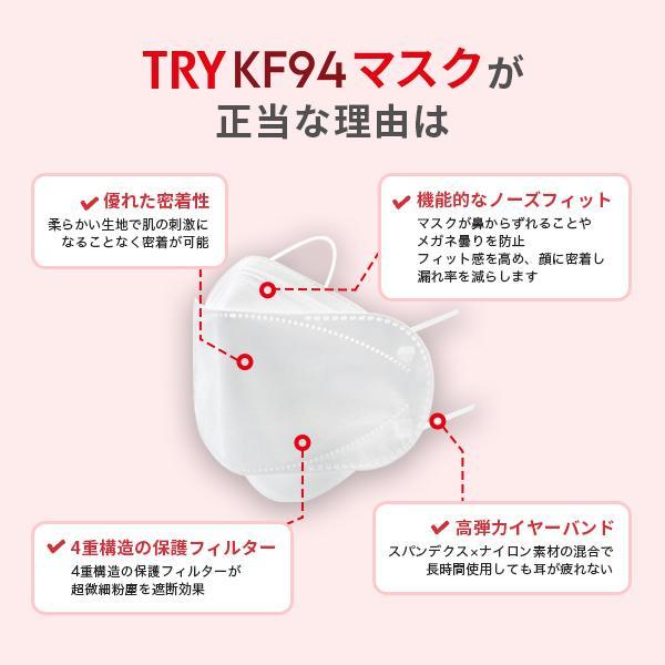【テレビで話題沸騰中!】正規品 トライKF94マスク 30枚 不織布マスク 4層構造 個包装 口紅がつきにくい 呼吸がラク 花粉対策 韓国マスク 高機能マスク KF94|seulege|08