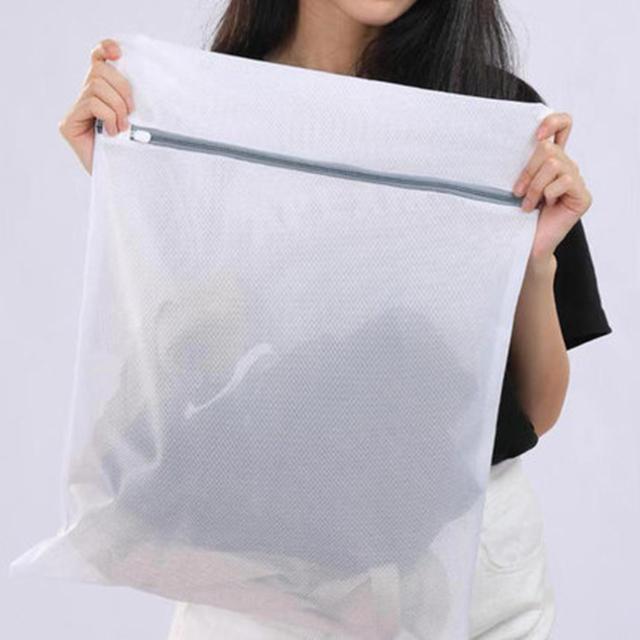 洗濯ネット ランドリーネット 60x60cm NEW 大きいサイズ 型崩れ防止 絡み防止 傷み防止 メッシュ ファスナー 収納袋 旅行 贈答