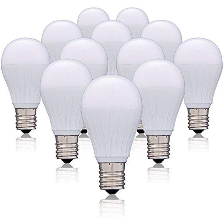 LED電球 口金直径17mm 50W形相当 広配光タイプ 12個セット 密閉形器具対応 LDA5N-G-E17-5T22P(昼白色, 50W)