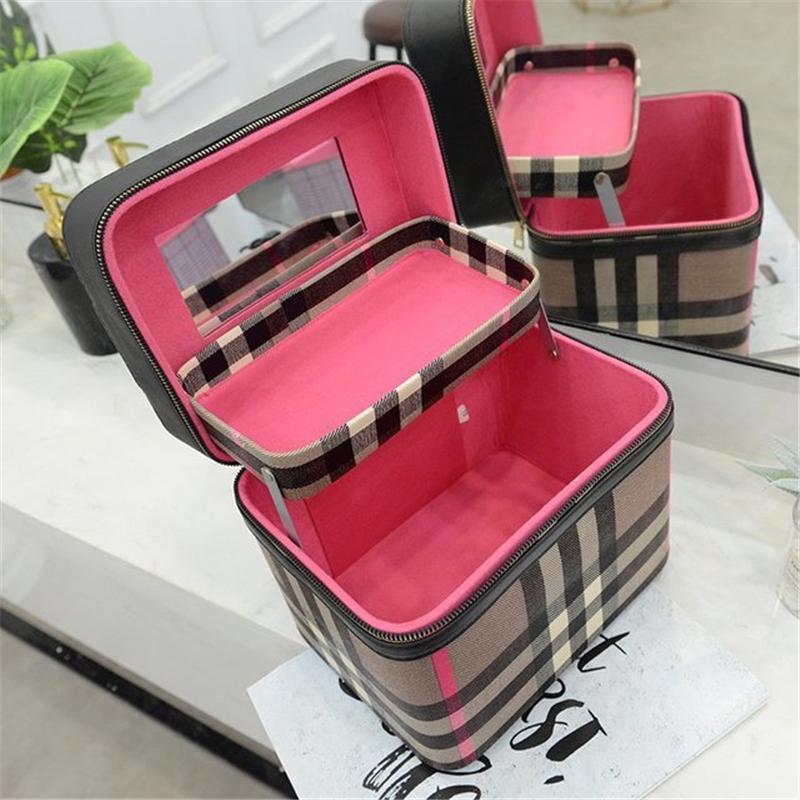 4color!メイクボックス コスメボックス 鏡付き 雑貨 小物入れ 持ち運び可 ネイル プロ 美容 大容量 アクセサリー 収納 化粧品 ジュエリーボックス sevenseas77 04