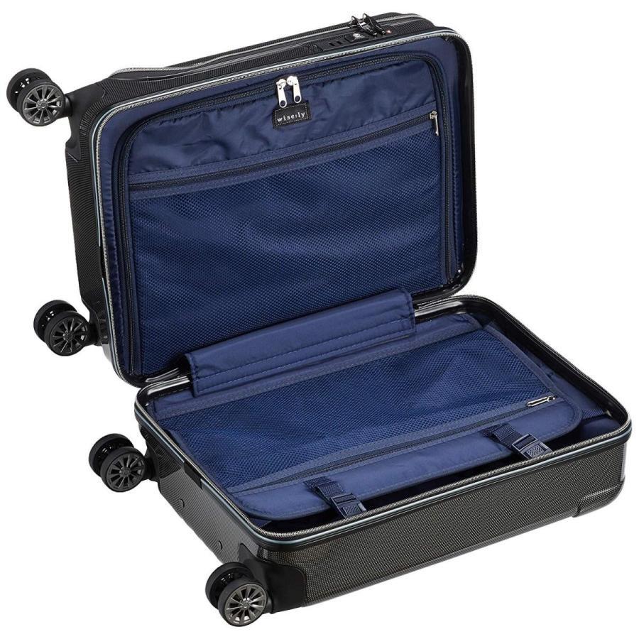ワイズリー スーツケース 超軽量双輪スーツケース フロントオープン 機内持込最大サイズ コーナーパッド付き TSAロック 機内持ち込み可 3