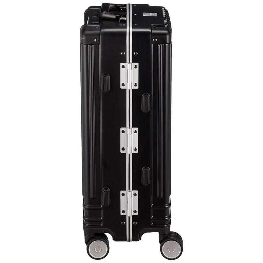 ランバンオンブルー スーツケース キャリーバッグ 機内持ち込み対応 ヴィラージュ 27L 49 cm 3.5kg クロ